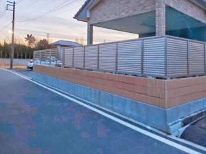 目隠しフェンス&ブロック施工